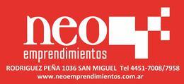 Foto Departamento en Venta en  Muñiz,  San Miguel  AVENIDA PERON AL 200 - EXCELENTE 2 AMBIENTES DE CATEGORIA A ESTRENAR CON COCHERA EN SUBSUELO - EDIFICIO BOX