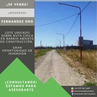 Foto Terreno en Venta en  General Fernandez Oro ,  Rio Negro  Barrio Los Troncos