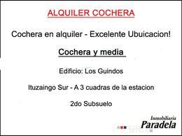 Foto Cochera en Alquiler en  Ituzaingó Sur,  Ituzaingó  24 de Octubre al 700