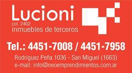 Foto Departamento en Venta en  San Miguel,  San Miguel  Rodríguez Peña al 900 - MONOAMBIENTE AMPLIO APTO COMERCIAL CON COCHERA CUBIERTA - EDIFICIO RP4