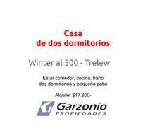 Foto Casa en Alquiler en  Trelew ,  Chubut  Winter al al 500