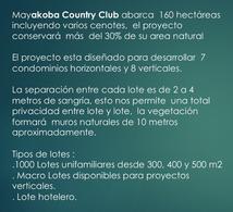 Foto Terreno en Venta en  Playa del Carmen,  Solidaridad   Terreno en venta Mayakoba Country Club 390 m2. Playa Del Carmen, Quintana Roo  Mèxico