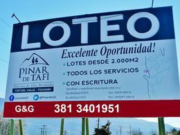 Foto Terreno en Venta en  Tafi Del Valle ,  Tucumán  LOTE 176 - 2004 M2 - EL PINAR LOTEO TAFI DEL VALLE