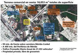Foto Terreno en Venta en  Pueblo Cholul,  Mérida  Terreno comercial en venta sobre carretera Mérida norte, 16,053 m²