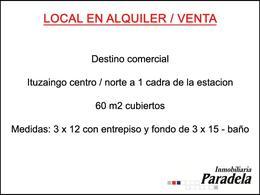 Foto thumbnail Local en Venta | Alquiler en  Ituzaingó ,  G.B.A. Zona Oeste  Juncal al 100