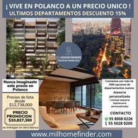 Foto Departamento en Venta en  Polanco V Sección,  Miguel Hidalgo  PROMOCION DEL 15% DE DESCUENTO. Departamento DE Lujo EN Venta. Polanco.