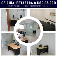 Foto Oficina en Venta en  Rosario,  Rosario  RETASADA - Oficina sectorizada con privados - Santa Fe 1312 04-04