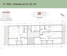 Foto Departamento en Venta en  Palermo Hollywood,  Palermo   EDIFICIO FR TRES AMBIENTES PISO 6 - DPTO. # 23 FITZ ROY  1465