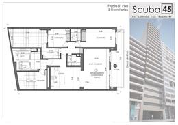 Piso exclusivo en venta con vista al rio, en construccion, 2 dormitorios con patio - Barrio Martin