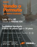 Foto Terreno en Venta en  Neuquen,  Confluencia  Terreno 400m2 con Proyecto para Edificio aprobado - Alderete 434 – Neuquén Capital