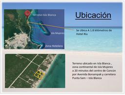 Foto Terreno en Venta en  Cancún,  Benito Juárez  TERRENO ISLA BLANCA FRENTE AL MAR, CANCUN, Q. ROO, USD$1,603,338, CLAVE ROSS22020