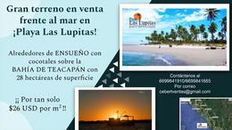 """Foto Terreno en Venta en  Pueblo Teacapan,  Escuinapa  Terreno frente al mar. 28 Ha en playa """"Las Lupitas"""""""