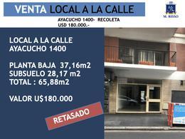 Foto Local en Venta en  Recoleta ,  Capital Federal  LOCAL A LA CALLE AYACUCHO 1400, PB Y SUBSUELO