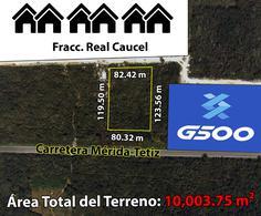 Foto Terreno en Venta en  Pueblo Caucel,  Mérida  Terreno De 10,003.75 m2 en Caucel