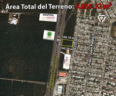 Foto Terreno en Venta en  Fraccionamiento Juan Pablo,  Mérida  Terreno De 5,851.12 m2 En Periférico Poniente