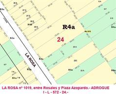 Foto thumbnail Terreno en Venta en  Adrogue,  Almirante Brown  LA ROSA nº 1019, entre Rosales y Plaza Azopardo