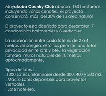 Foto Terreno en Venta en  Playa del Carmen,  Solidaridad  Terreno en Venta en Playa Del Carmen MAYAKOBA COUNTRY CLUB. Lote Condominal Vertical 2710 m2 m2.