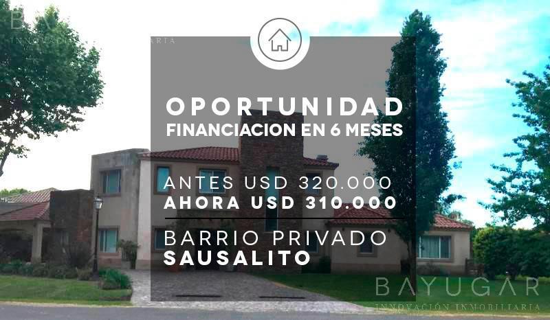 Foto Casa en Venta en  Sausalito,  Countries/B.Cerrado (Pilar)  IMPORTANTE CASA EN VENTA EN SAUSALITO, OPORTUNIDAD DE FINANCIACIÓN/BAYUGAR NEGOCIOS INMOBILIARIOS