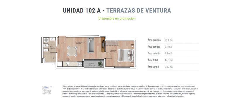 Foto Departamento en Venta en  La Blanqueada ,  Montevideo  unidad 502 A