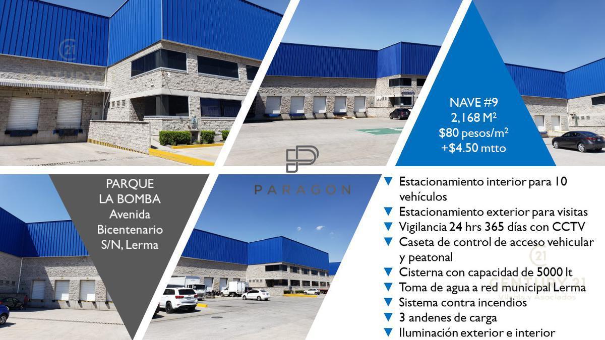 Foto Nave Industrial en Renta en  La Bomba,  Lerma  NAVE EN RENTA EN PARQUE  INDUSTRIAL LA BOMBA