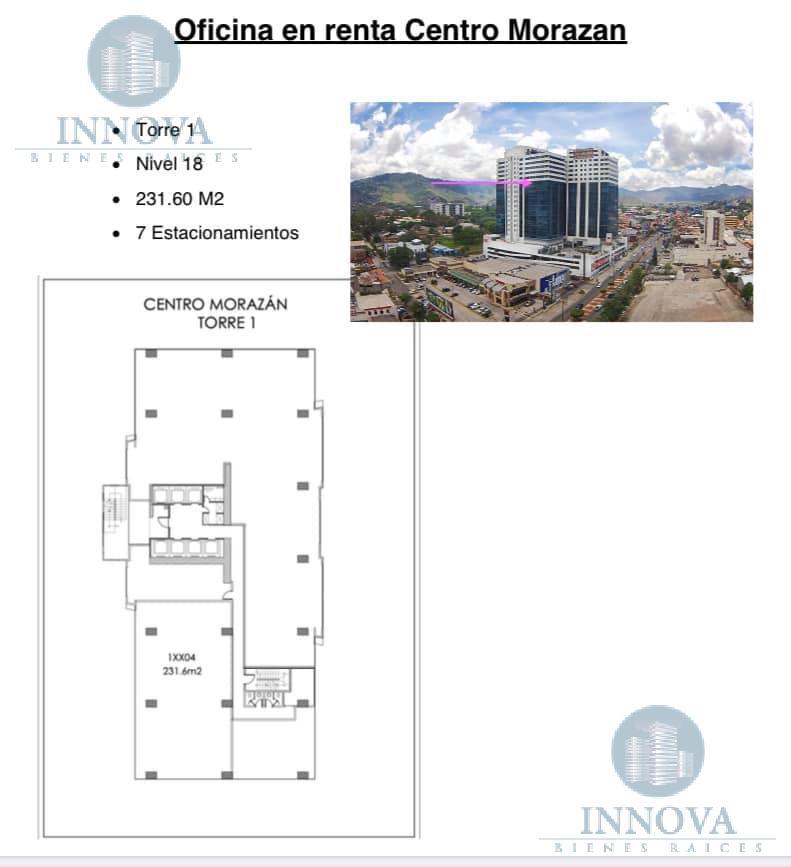 Foto Oficina en Renta en  Tegucigalpa ,  Francisco Morazán  Oficina Centro Morazan 231.60 m2 Boulevard Morazan Tegucigalpa