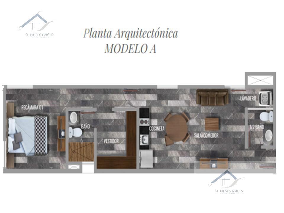 Foto Departamento en Venta en  Santa Gertrudis Copo,  Mérida  Alevo departamentos mod. A en venta una recamara