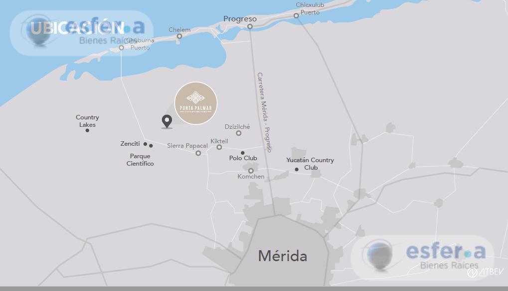 Foto Terreno en Venta en  Pueblo Sierra Papacal,  Mérida  Terrenos de inversión en Venta Punta Palmar