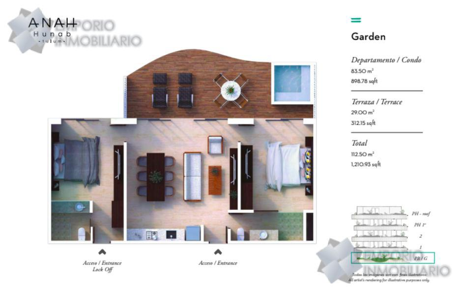 Foto Departamento en Venta en  Tulum,  Tulum  Departamento Venta Anah Hunab Tulum $200,000 USD ERM1