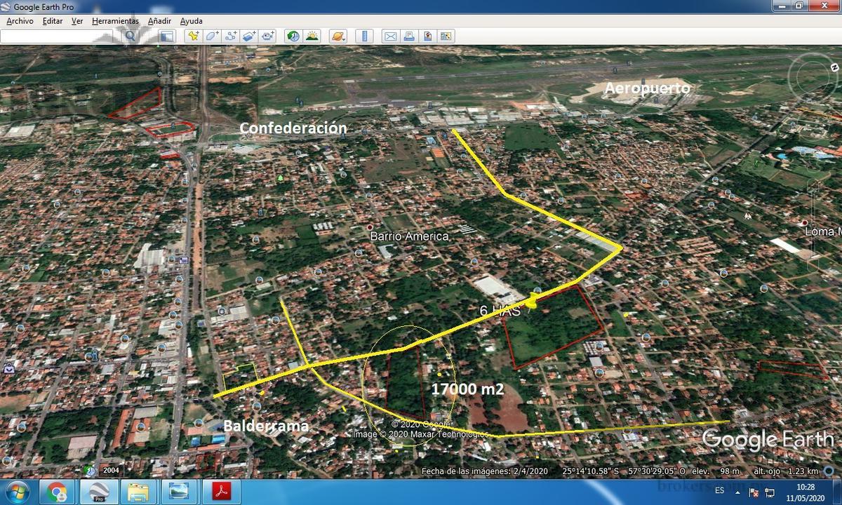 Foto Terreno en Venta en  1er. Barrio,  Luque  Vendo Excelente Propiedad 17000 m2 para Inversión Barrio América