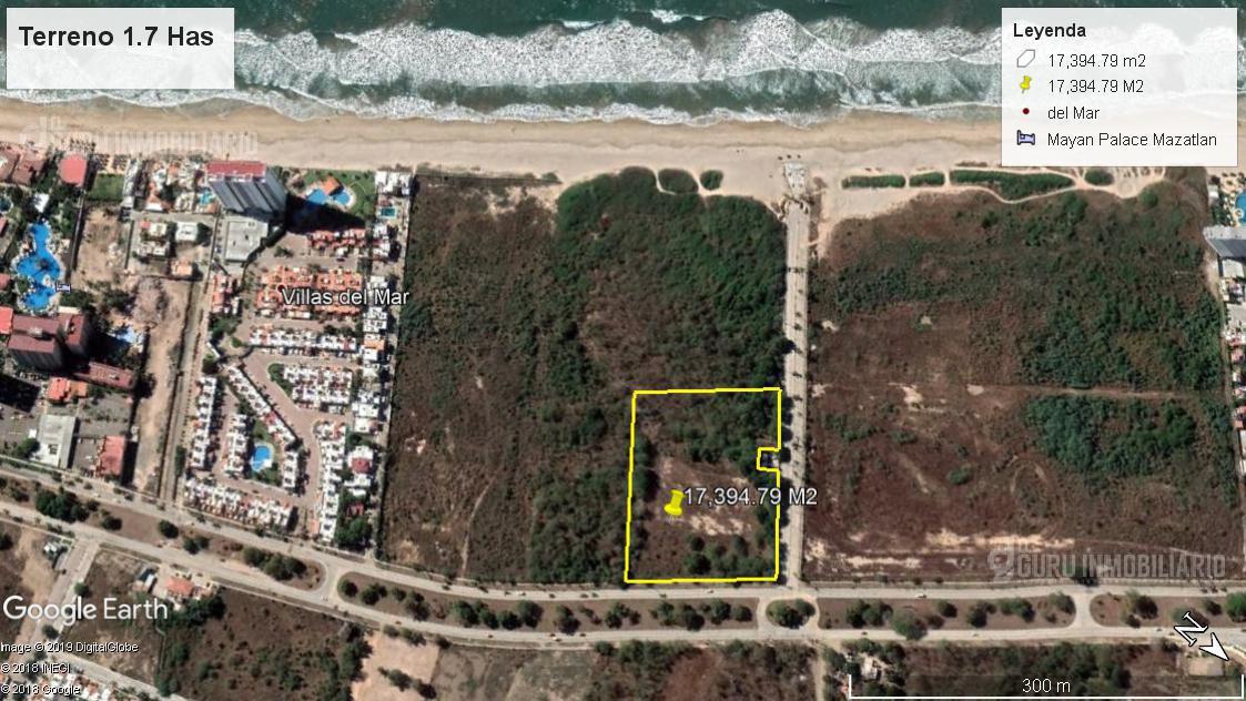 Foto Terreno en Venta en  Fraccionamiento Sábalo Cerritos,  Mazatlán  Terreno Para Hotel, Desarrollo Vivienda Vertical playa