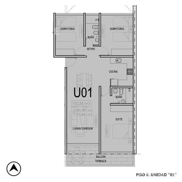 Venta departamento 3+ dormitorios Rosario, zona Centro. Cod CBU12750 OF1224150. Crestale Propiedades