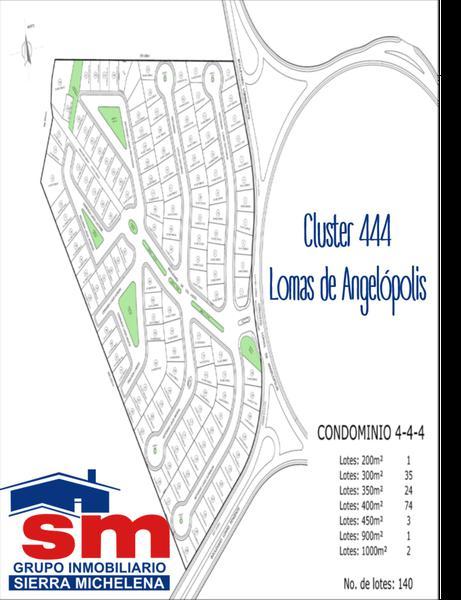 Foto Terreno en Venta en  Fraccionamiento Lomas de  Angelópolis,  San Andrés Cholula  Terreno en venta Cluster 444 Lomas de Angelopolis