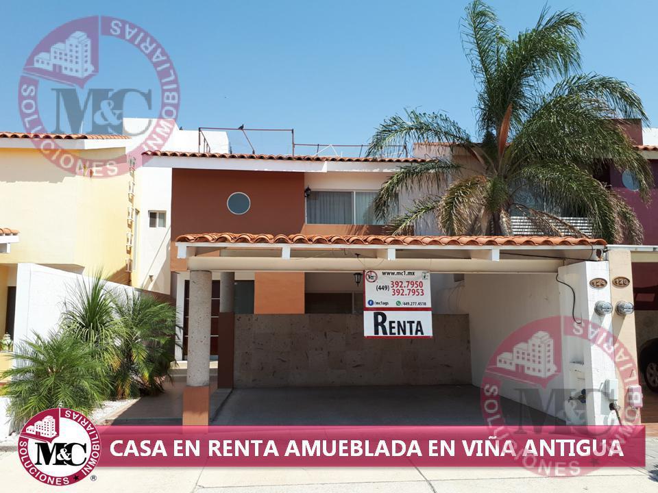 Foto Casa en Renta en  Fraccionamiento Viña Antigua,  Jesús María  RENTA CASA AMUEBLADA EN VIÑA ANTIGUA