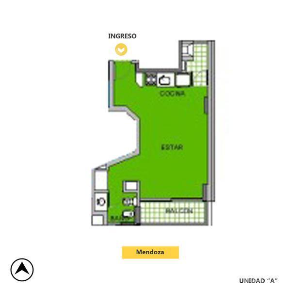 Venta departamento monoambiente Rosario, zona Centro. Cod CAP1176541. Crestale Propiedades