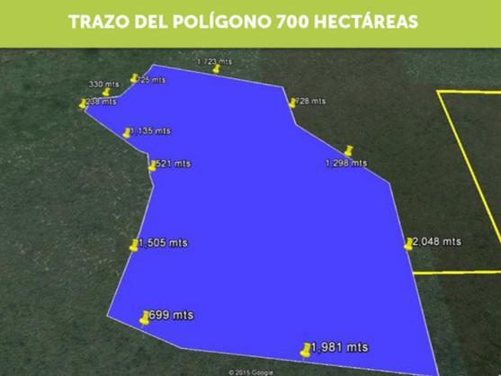 Al norte de Mérida Venta de 700 Hectáreas  (RR)