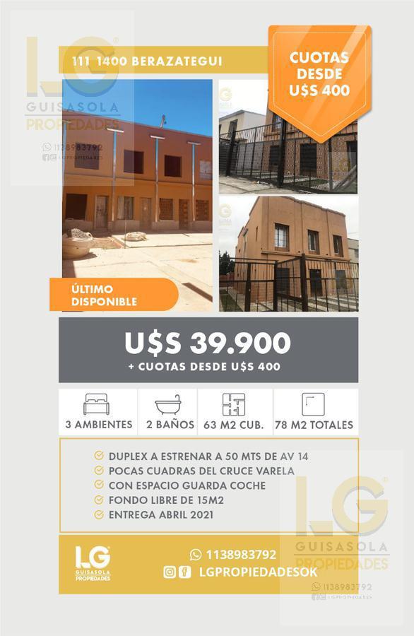 Foto Casa en Venta en  Berazategui,  Berazategui  111 1400