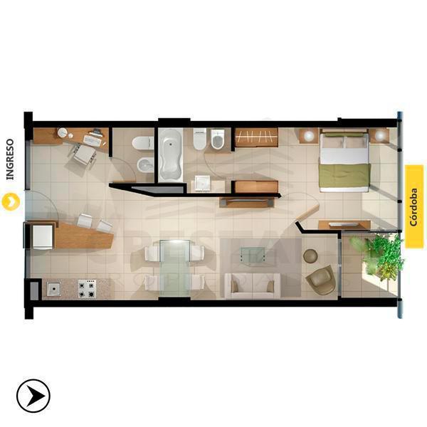 Venta departamento 1 dormitorio Rosario, zona Centro. Cod CAP1127278. Crestale Propiedades
