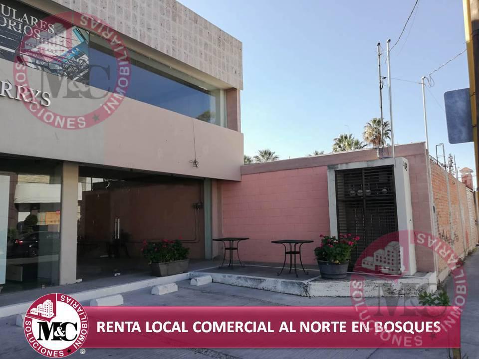 Foto Local en Renta en  Fraccionamiento Los Bosques,  Aguascalientes  MC RENTA LOCAL COMERCIAL AL NORTE, EN BOSQUES