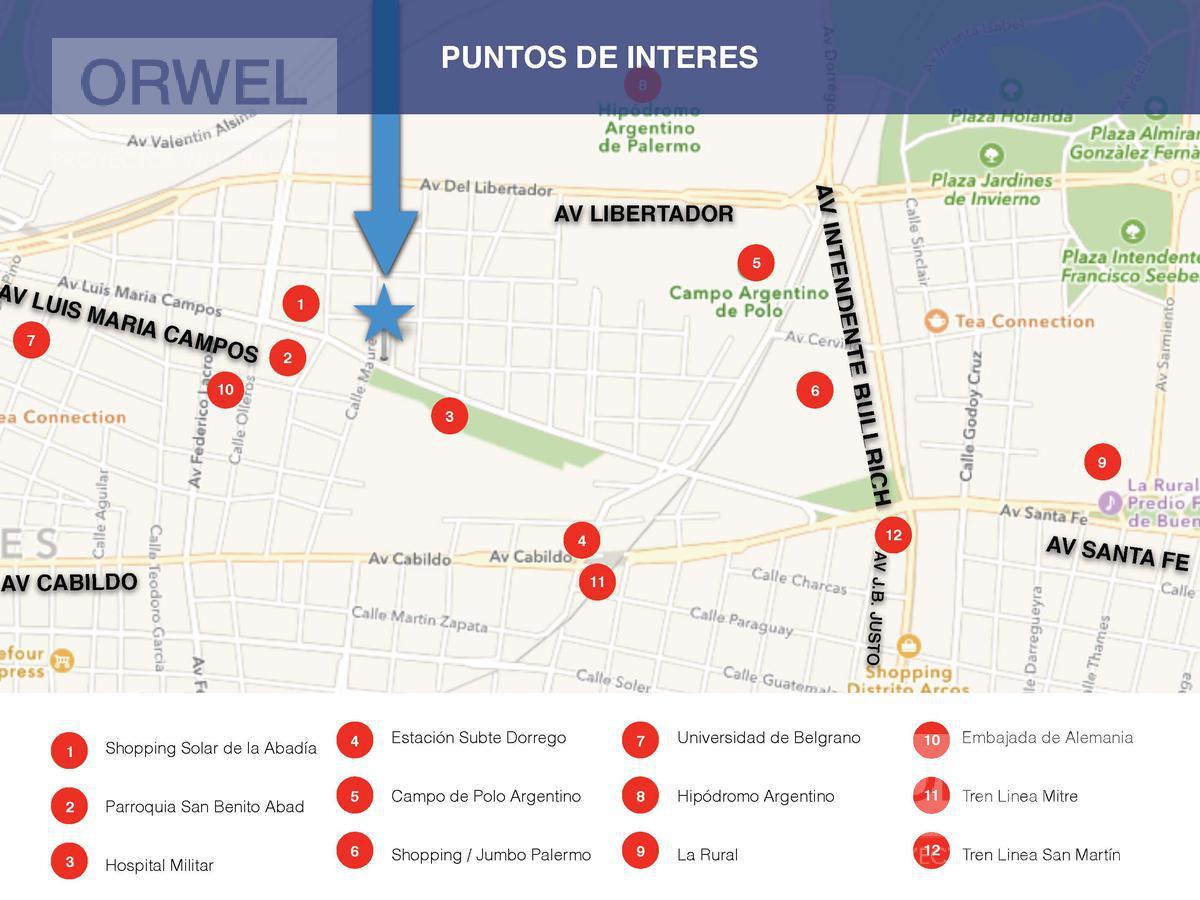 Foto Oficina en Alquiler en  Belgrano ,  Capital Federal  Luis Maria  Campos 800  y Maure.