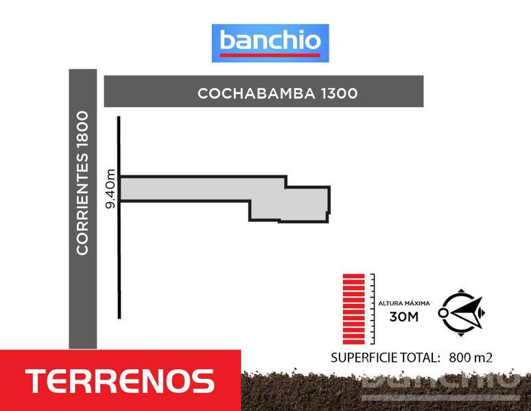 Corrientes al 1800, Santa Fe. Venta de Terrenos - Banchio Propiedades. Inmobiliaria en Rosario