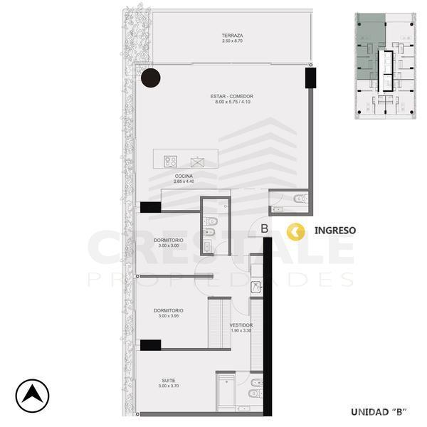 Venta departamento 3+ dormitorios Rosario, zona Pichincha. Cod CBU10856 AP1061199. Crestale Propiedades