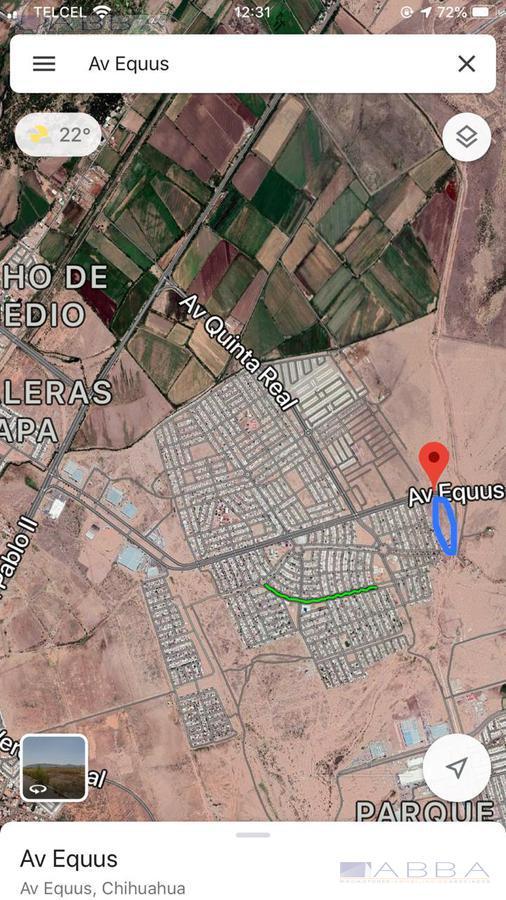Foto Terreno en Venta en  Jardines de Oriente,  Chihuahua  Terreno Comercial y Residencial en Ave. Equus