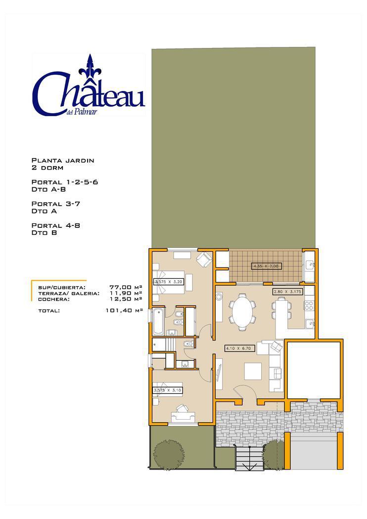 Departamento en Venta  en Nordelta El Palmar Chateau del Palmar