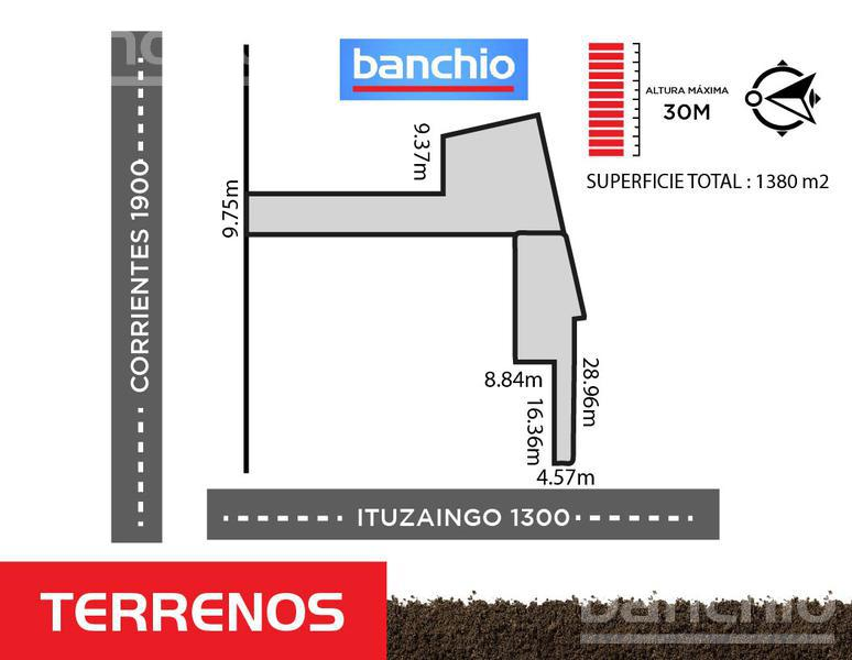 CORRIENTES al 1900, Rosario, Santa Fe. Venta de Terrenos - Banchio Propiedades. Inmobiliaria en Rosario