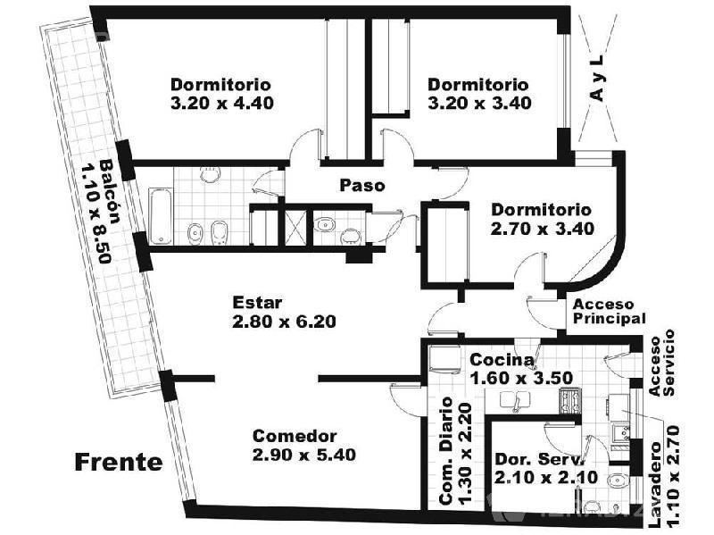 Departamento-Venta-Palermo-ARENALES 3500 e/SALGUERO, JERONIMO y ALVAREZ, JULIAN