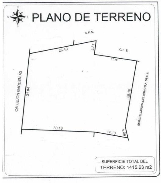 Foto Terreno en Venta en  La Fuente,  Minatitlán  Callejón Gardenias, Fracción Número Dos, Colonia de la Fuente, Minatitlán, Ver.