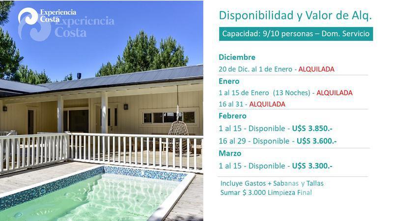 Foto Casa en Alquiler | Alquiler temporario en  Barrio Costa Esmeralda,  Pinamar  Deportiva Lote al 300