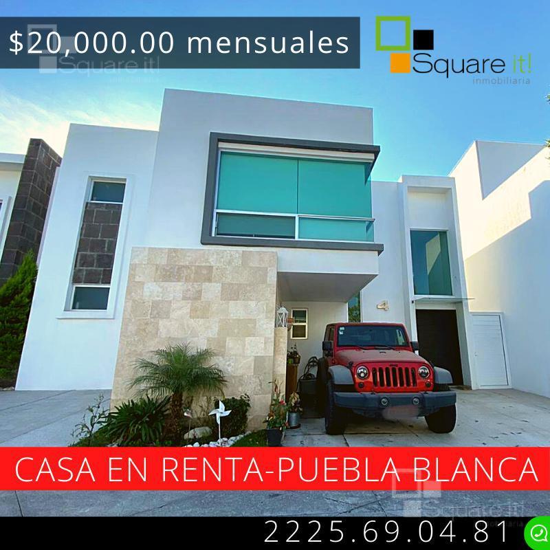 Foto Casa en Renta en  Fraccionamiento Lomas de  Angelópolis,  San Andrés Cholula  Casa en Renta  Puebla Blanca, Lomas de Angelópolis II,  clúster con alberca