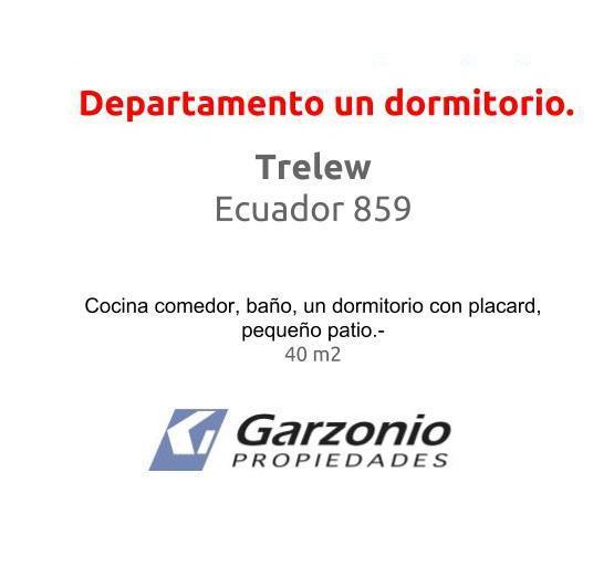 Foto Departamento en Alquiler en  Trelew ,  Chubut  Ecuador al 800