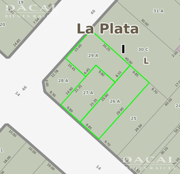 Terreno en Venta/Alquiler, 14 esq. 46 - La Plata - Buenos Aires